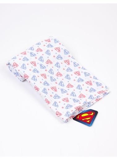 Superman  Waffle Battaniye 18130 Kırmızı